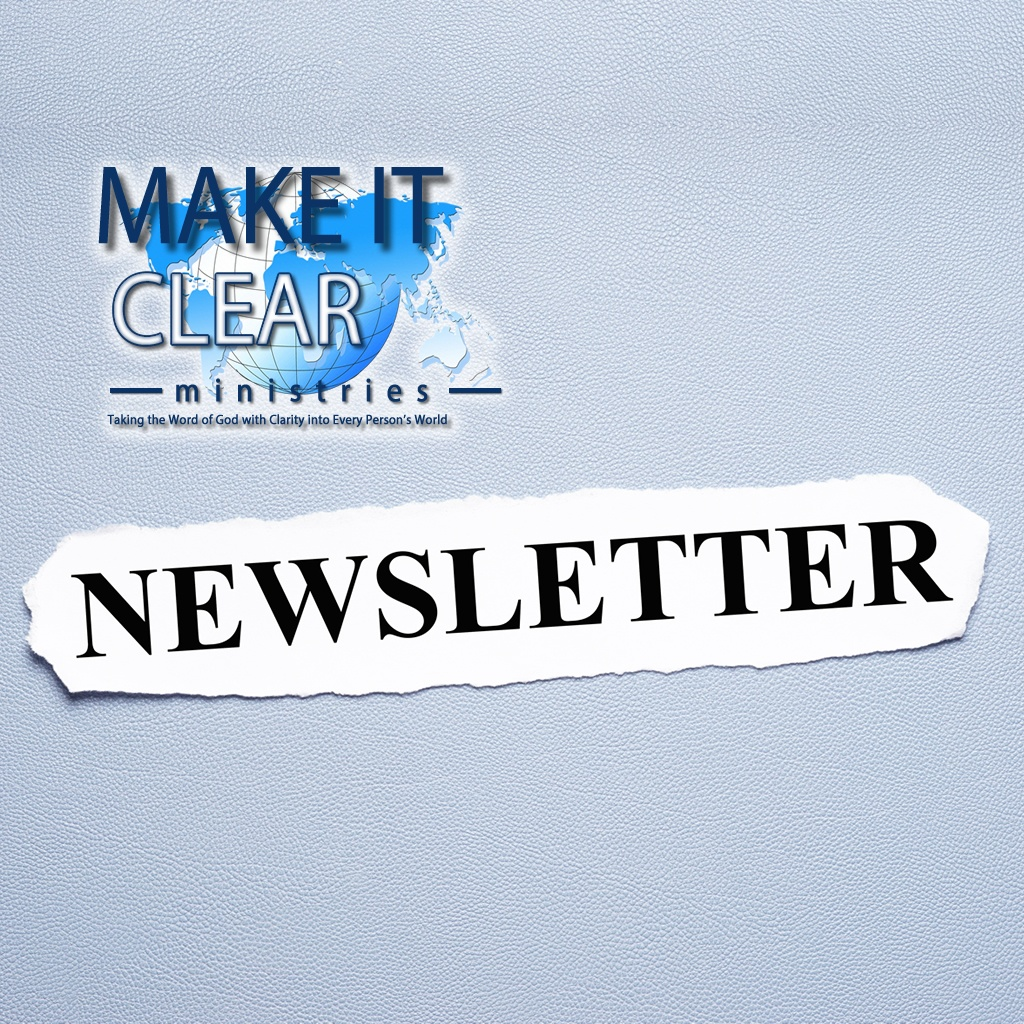 Make It Clear Newsletter